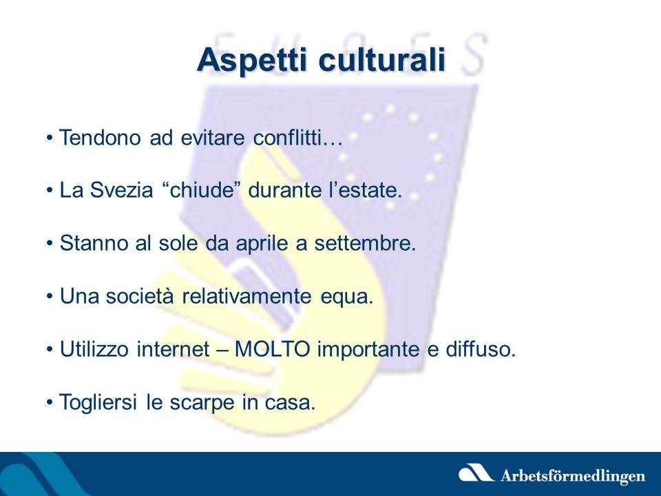 Aspetti culturali Tendono ad evitare conflitti…