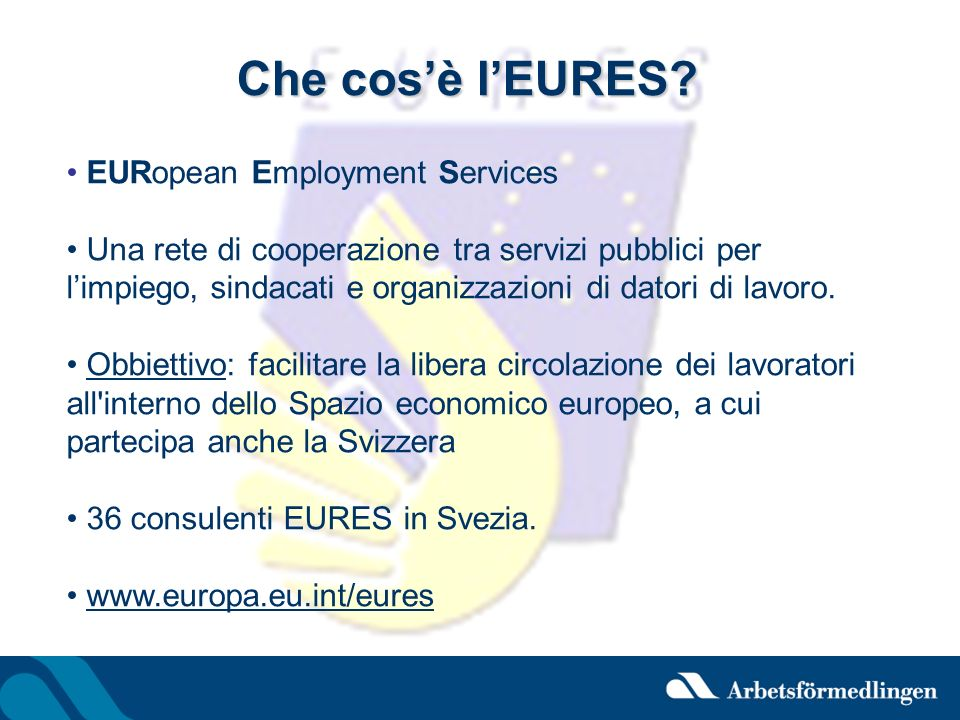 Che cos'è l'EURES EURopean Employment Services