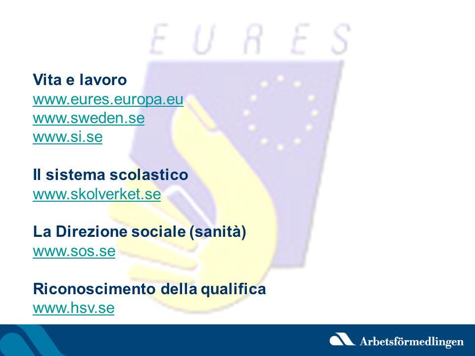 Vita e lavoro www.eures.europa.eu