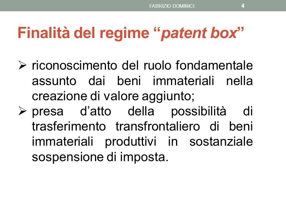 Finalità del regime patent box