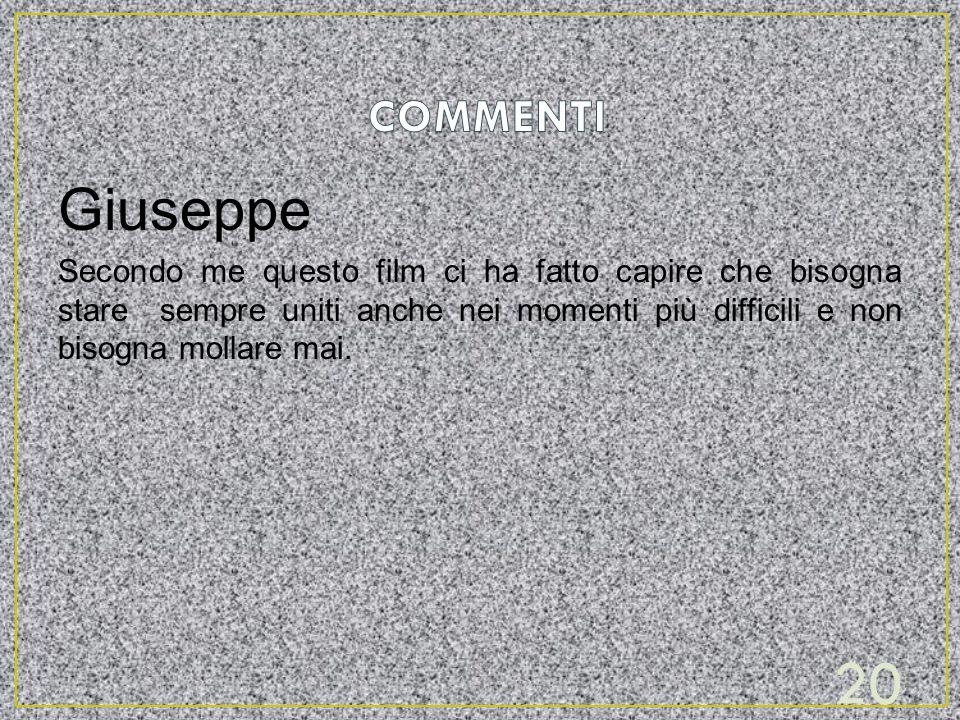 COMMENTI Giuseppe.