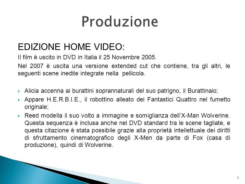 Produzione EDIZIONE HOME VIDEO: