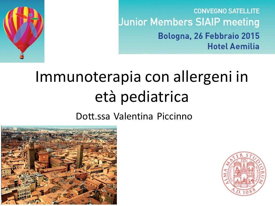 Immunoterapia con allergeni in età pediatrica
