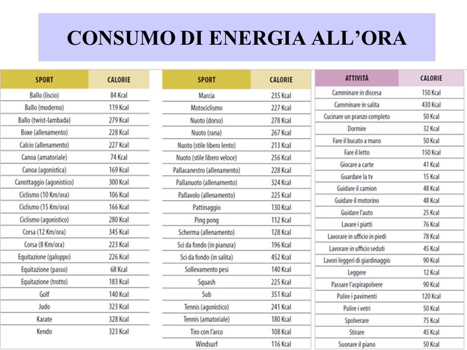 CONSUMO DI ENERGIA ALL'ORA