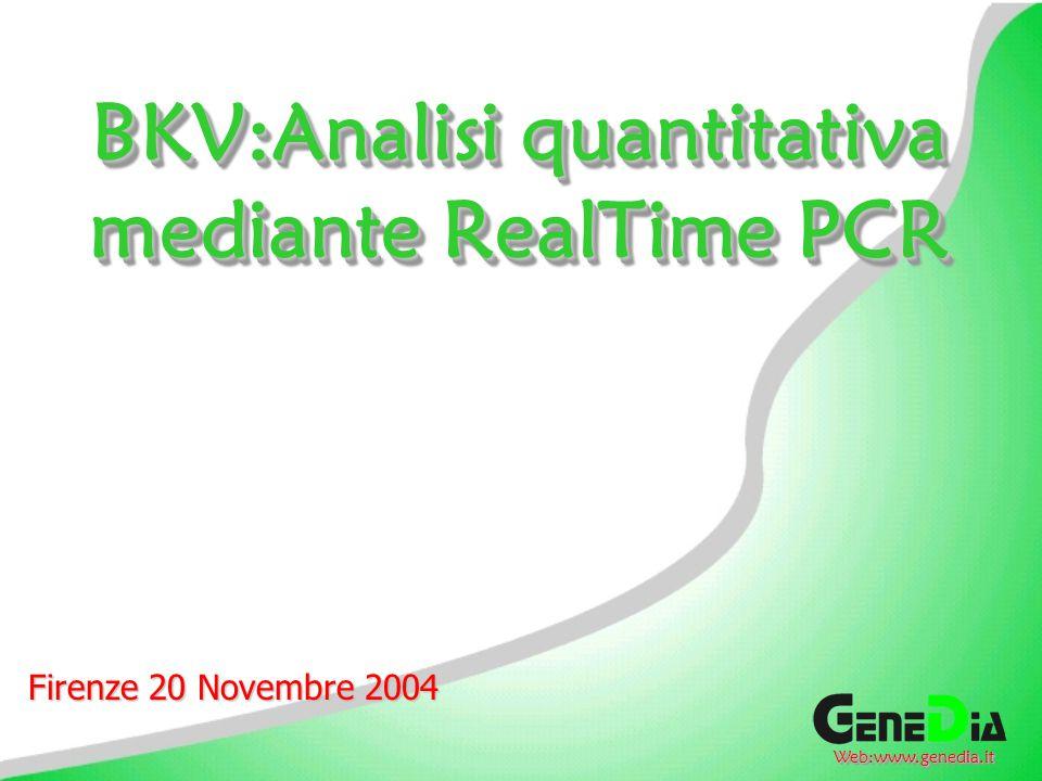 BKV:Analisi quantitativa mediante RealTime PCR
