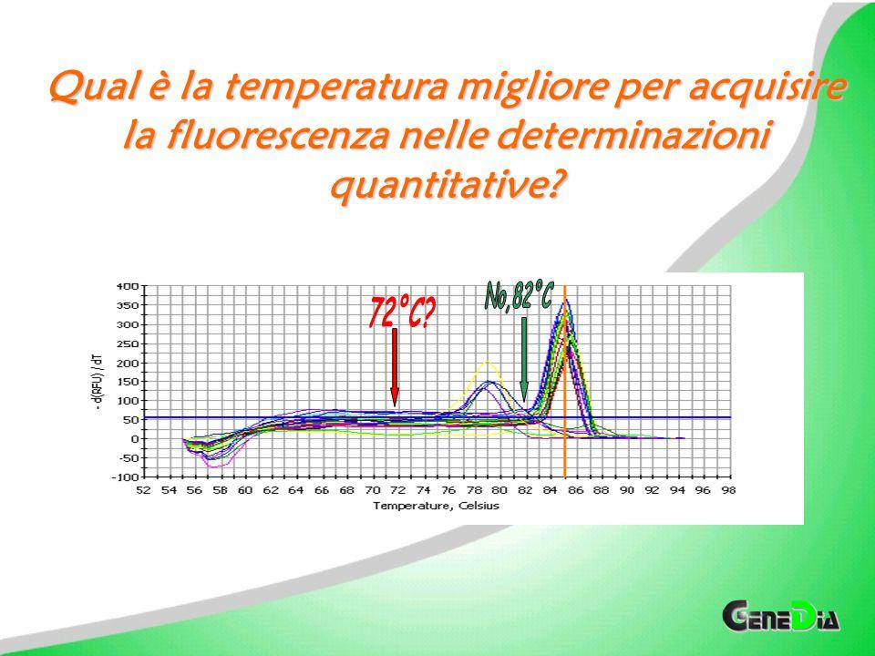 Qual è la temperatura migliore per acquisire la fluorescenza nelle determinazioni quantitative
