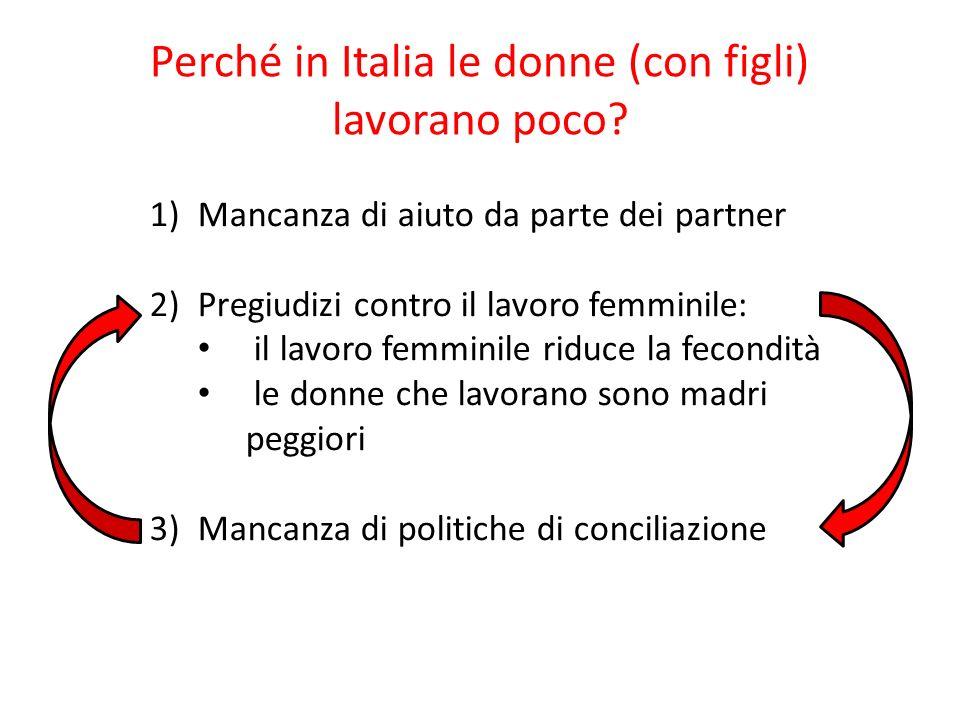 Perché in Italia le donne (con figli) lavorano poco