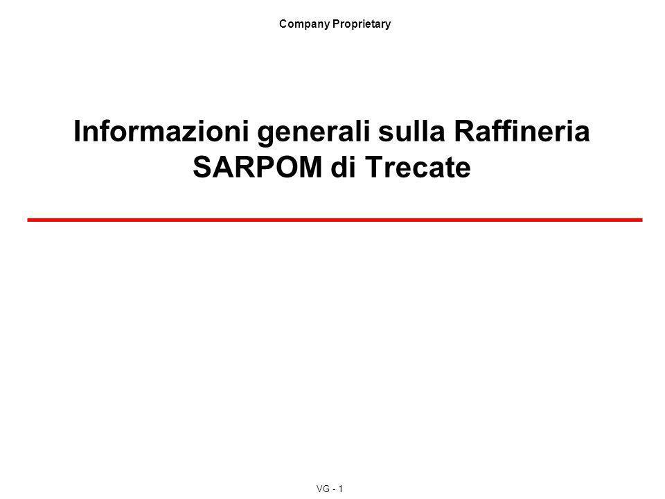 Informazioni generali sulla Raffineria SARPOM di Trecate