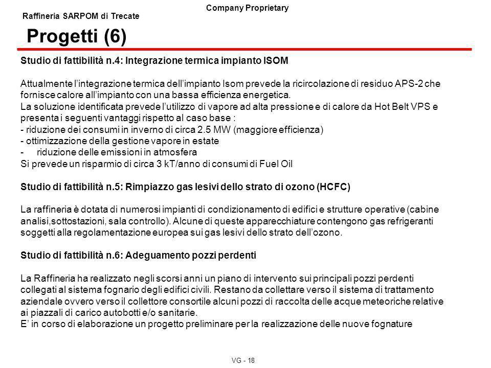 Progetti (6) Studio di fattibilità n.4: Integrazione termica impianto ISOM.