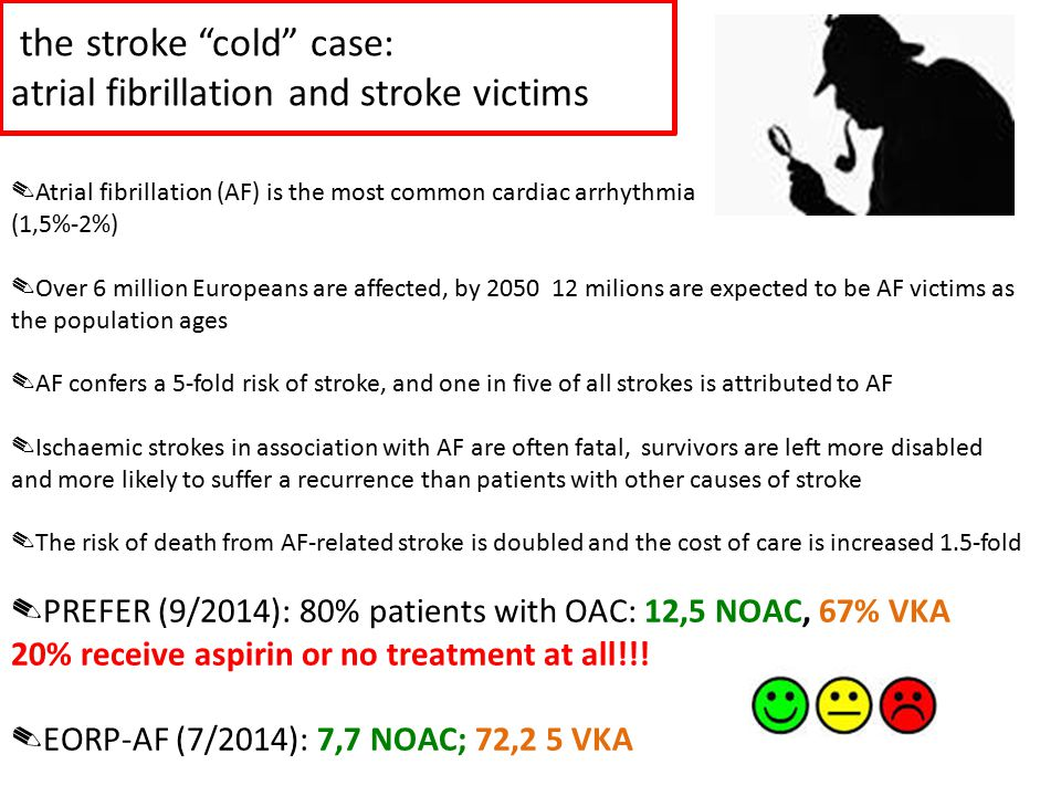 the stroke cold case: atrial fibrillation and stroke victims