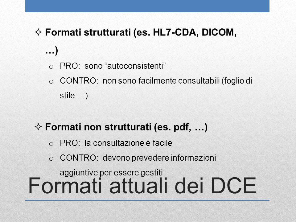 Formati attuali dei DCE