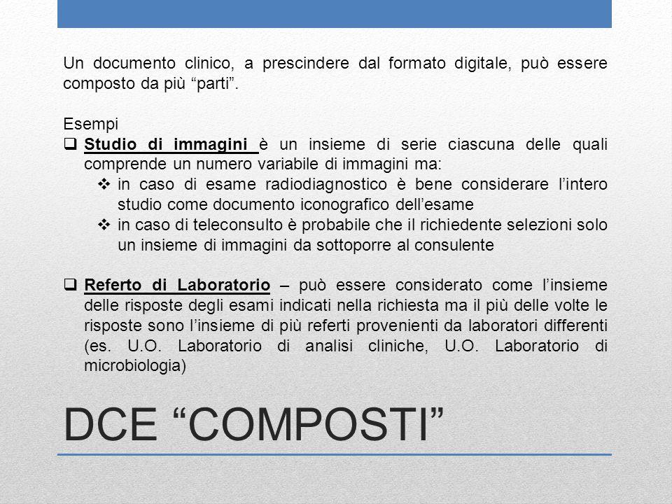 Un documento clinico, a prescindere dal formato digitale, può essere composto da più parti .
