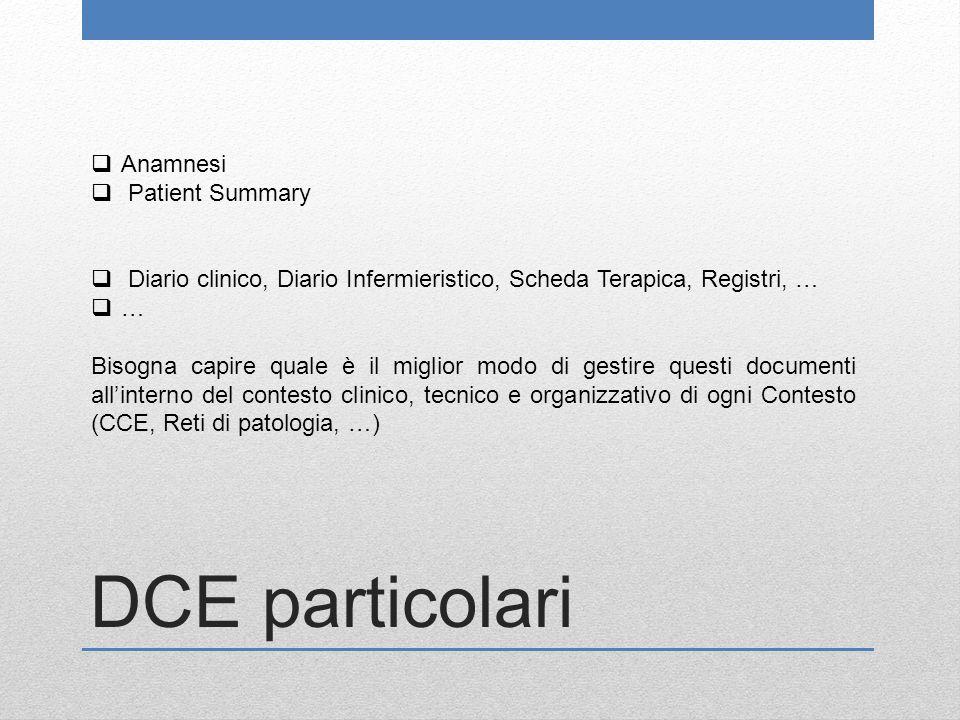 DCE particolari Anamnesi Patient Summary