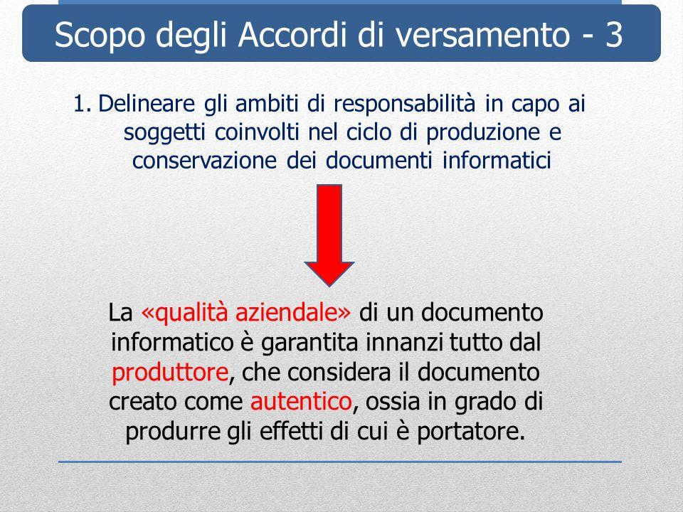 Scopo degli Accordi di versamento - 3