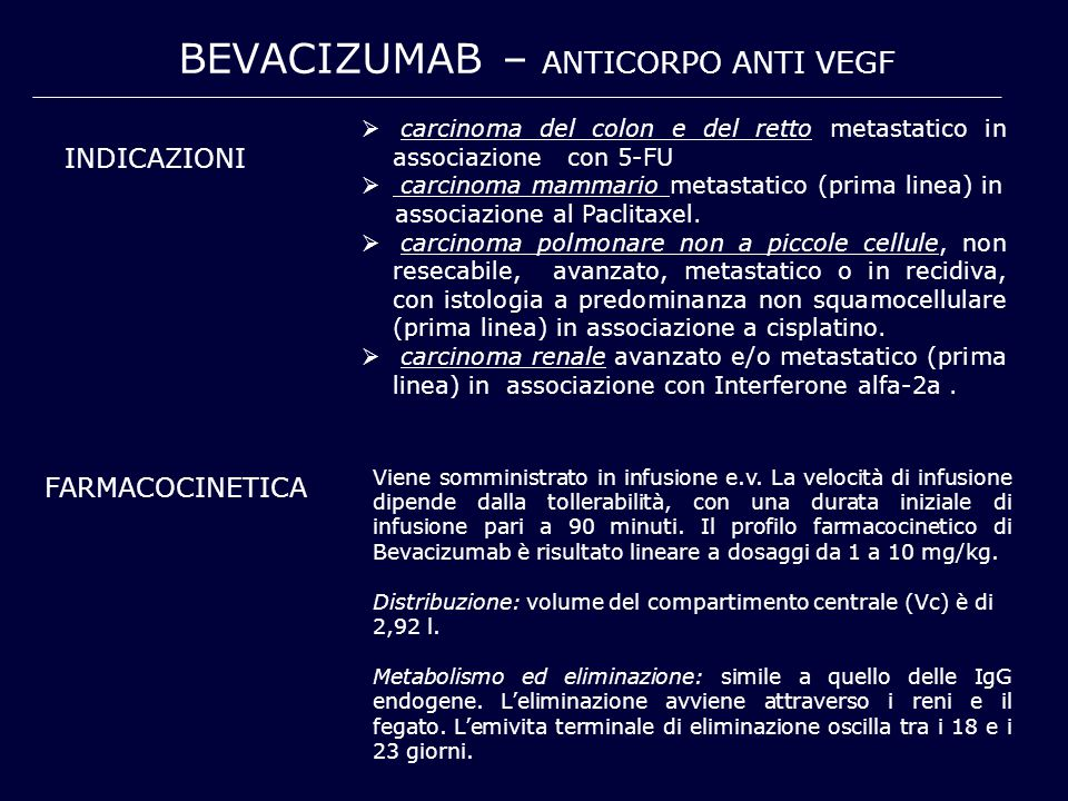 BEVACIZUmab – anticorpo anti VEGF