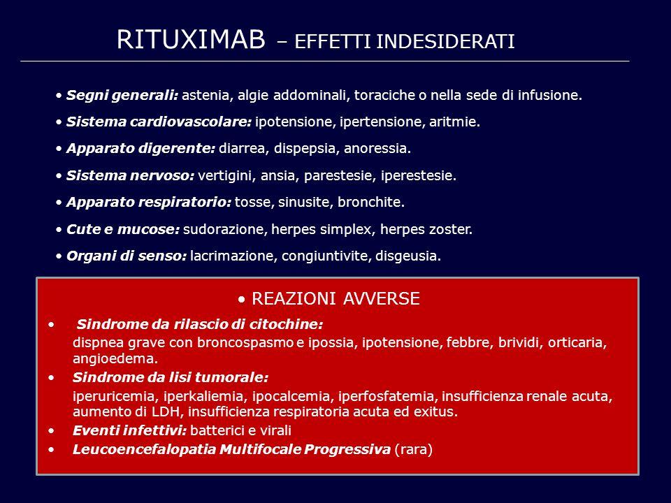 RITUXIMAB – EFFETTI INDESIDERATI