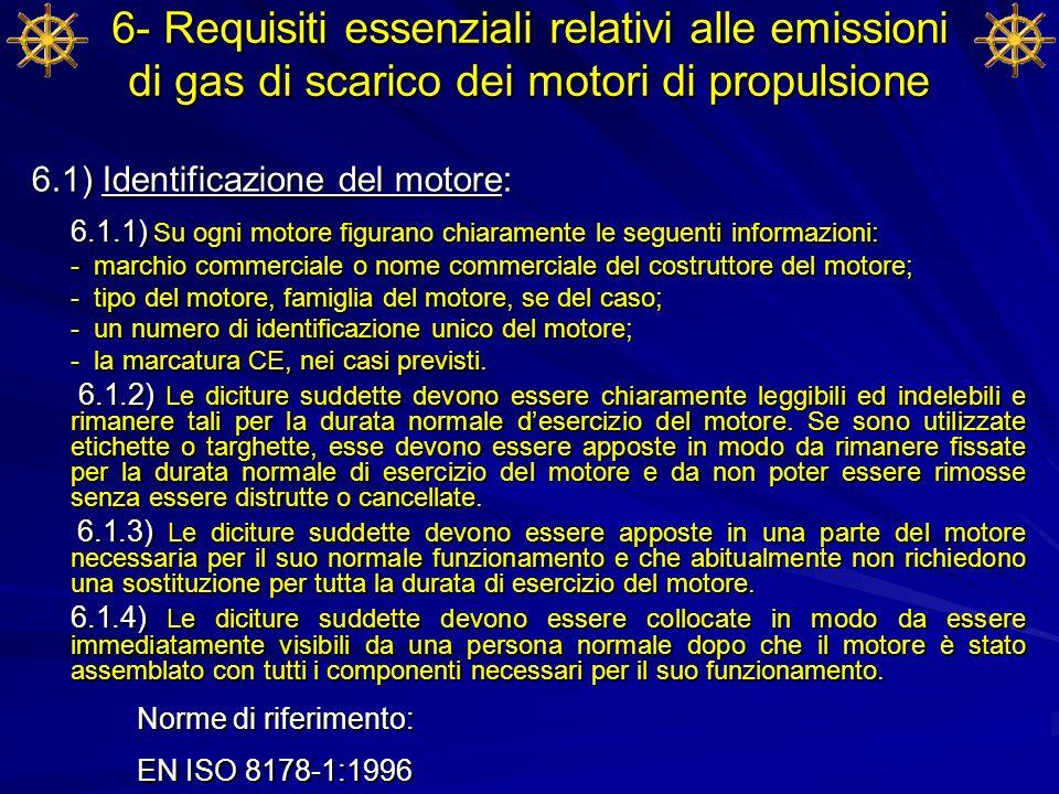 6- Requisiti essenziali relativi alle emissioni di gas di scarico dei motori di propulsione