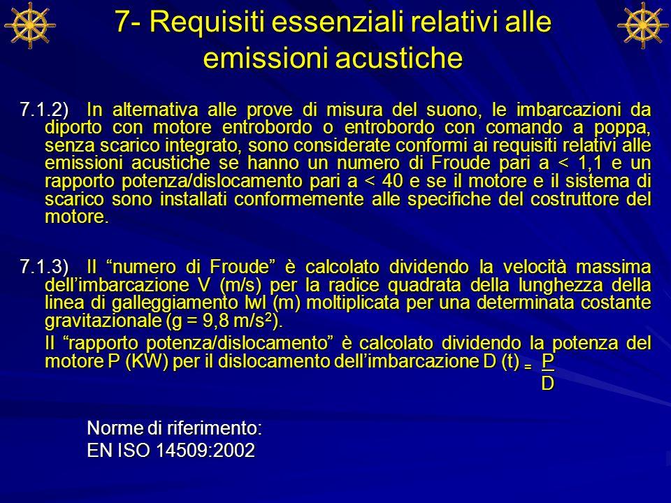 7- Requisiti essenziali relativi alle emissioni acustiche
