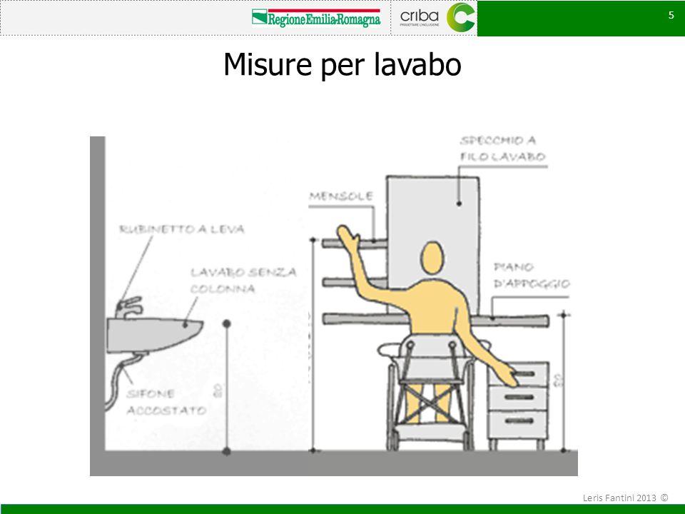 Misure per lavabo Leris Fantini 2013 ©