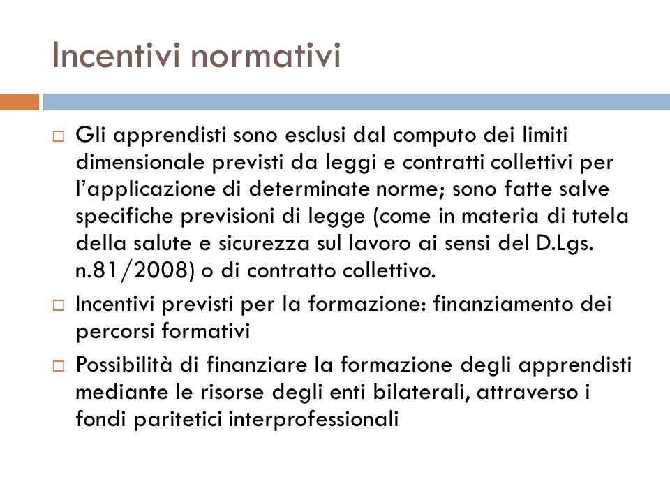 Incentivi normativi