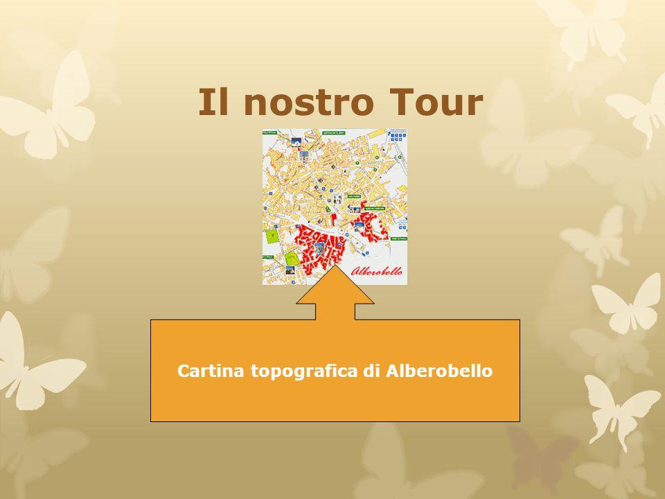 Cartina topografica di Alberobello