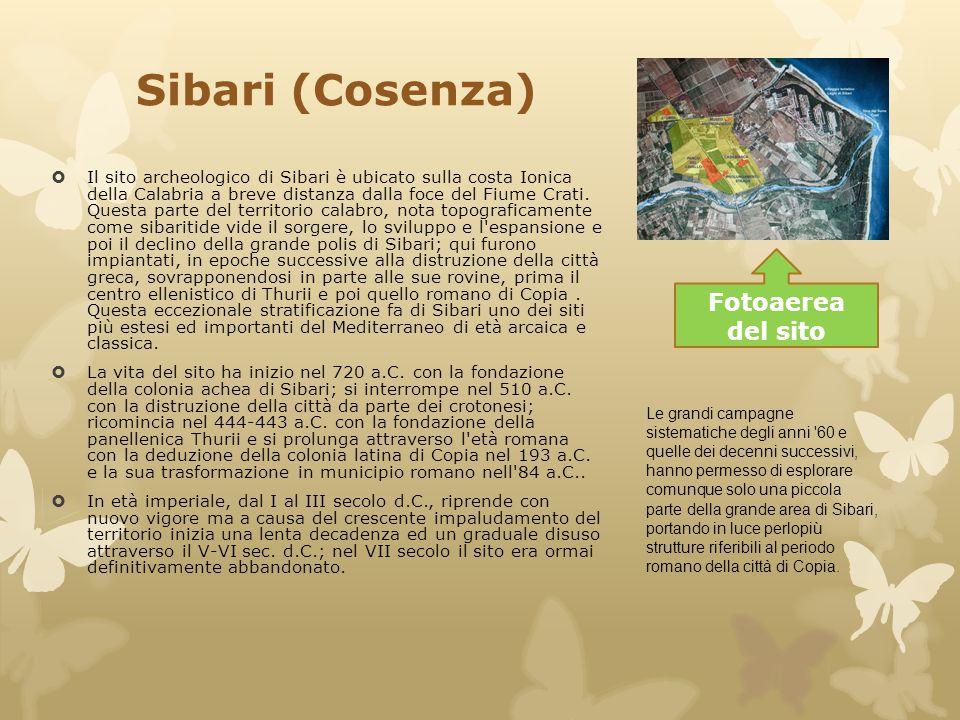 Sibari (Cosenza) Fotoaerea del sito
