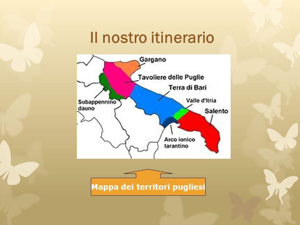 Mappa dei territori pugliesi
