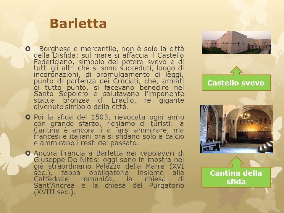 Barletta Castello svevo Cantina della sfida