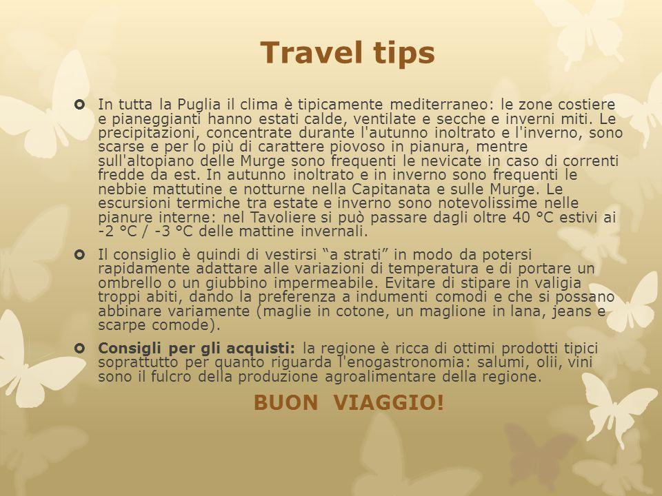 Travel tips BUON VIAGGIO!