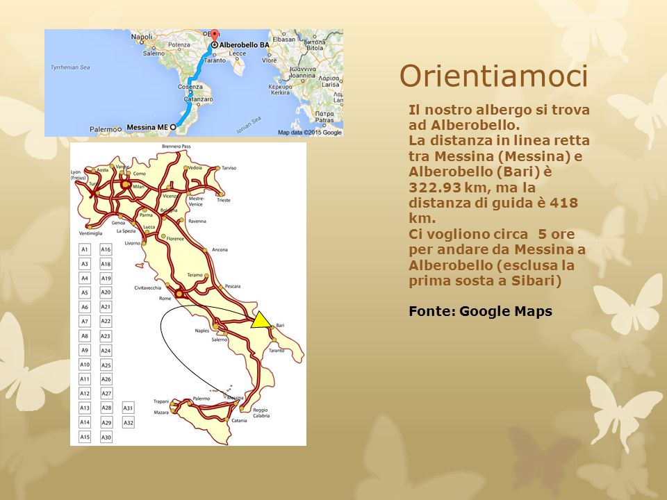 Orientiamoci Il nostro albergo si trova ad Alberobello.
