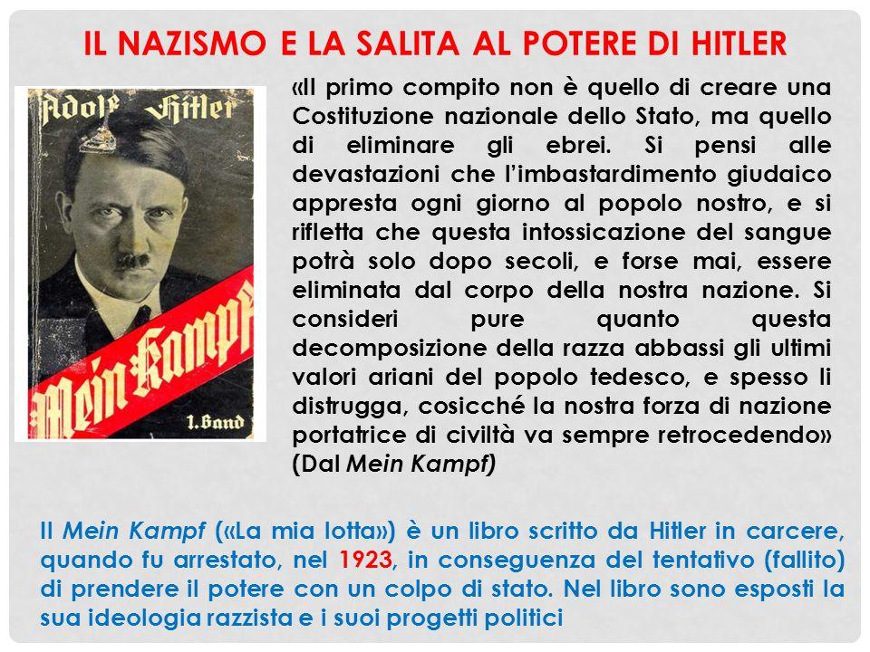 IL NAZISMO E LA SALITA AL POTERE DI HITLER