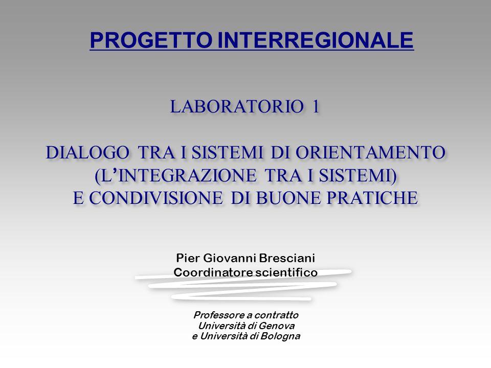 PROGETTO INTERREGIONALE