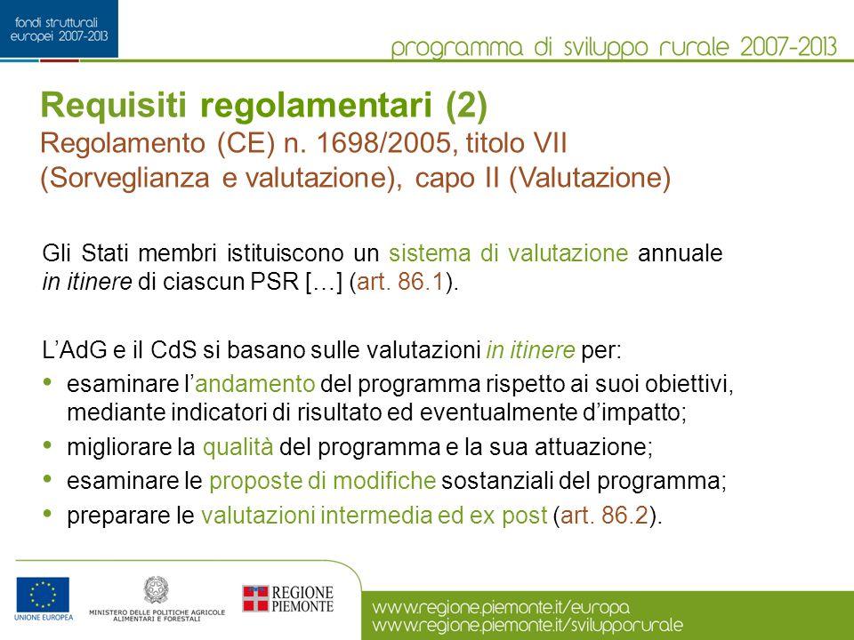 Requisiti regolamentari (2)