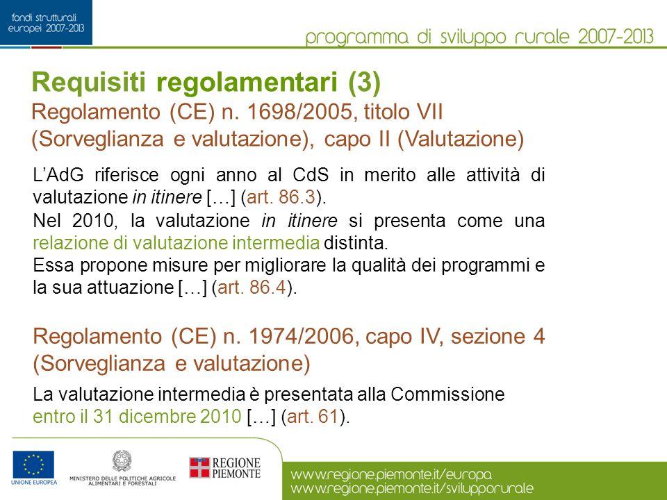 Requisiti regolamentari (3)