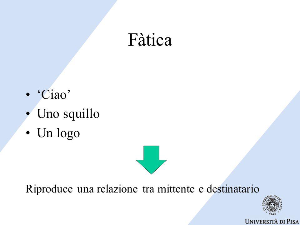Fàtica 'Ciao' Uno squillo Un logo