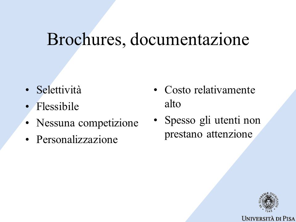 Brochures, documentazione
