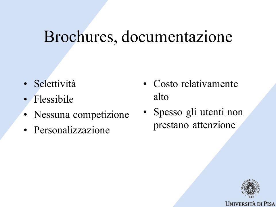 Brochures, documentazione