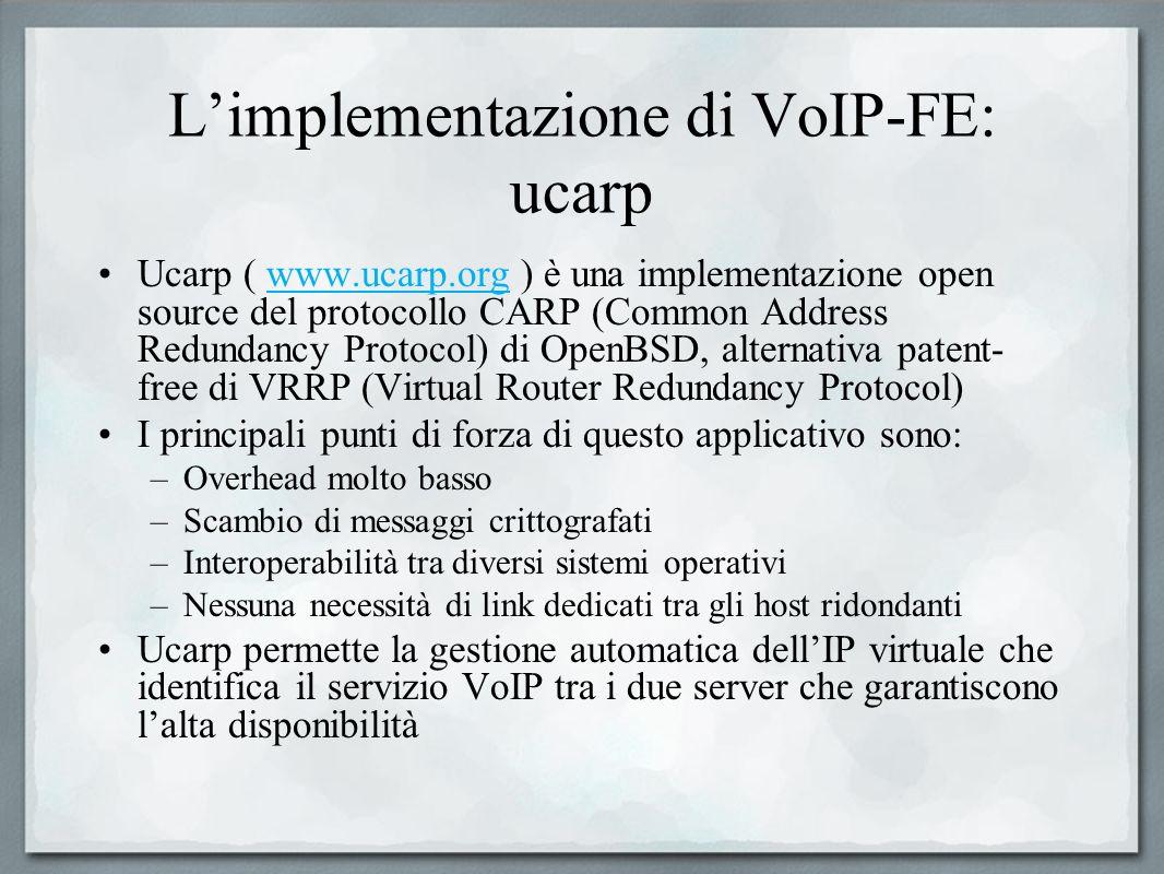 L'implementazione di VoIP-FE: ucarp