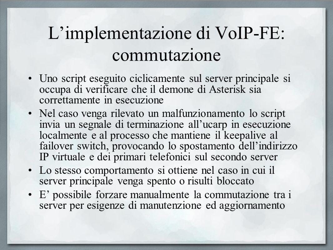 L'implementazione di VoIP-FE: commutazione