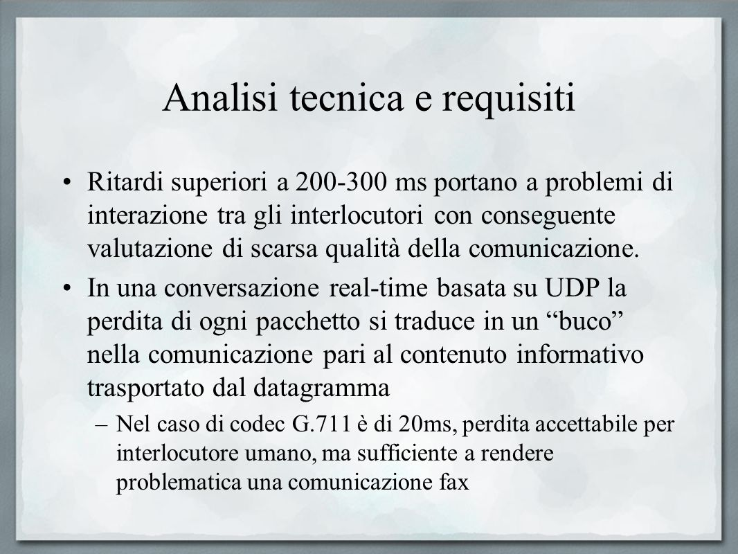 Analisi tecnica e requisiti