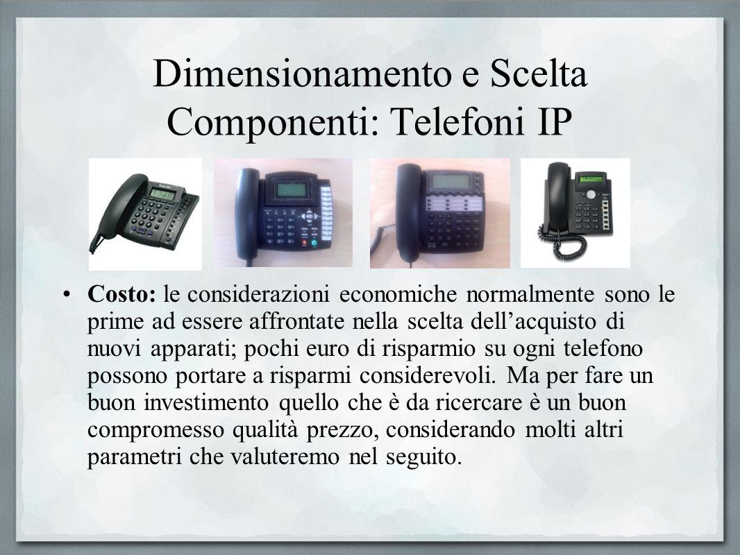 Dimensionamento e Scelta Componenti: Telefoni IP