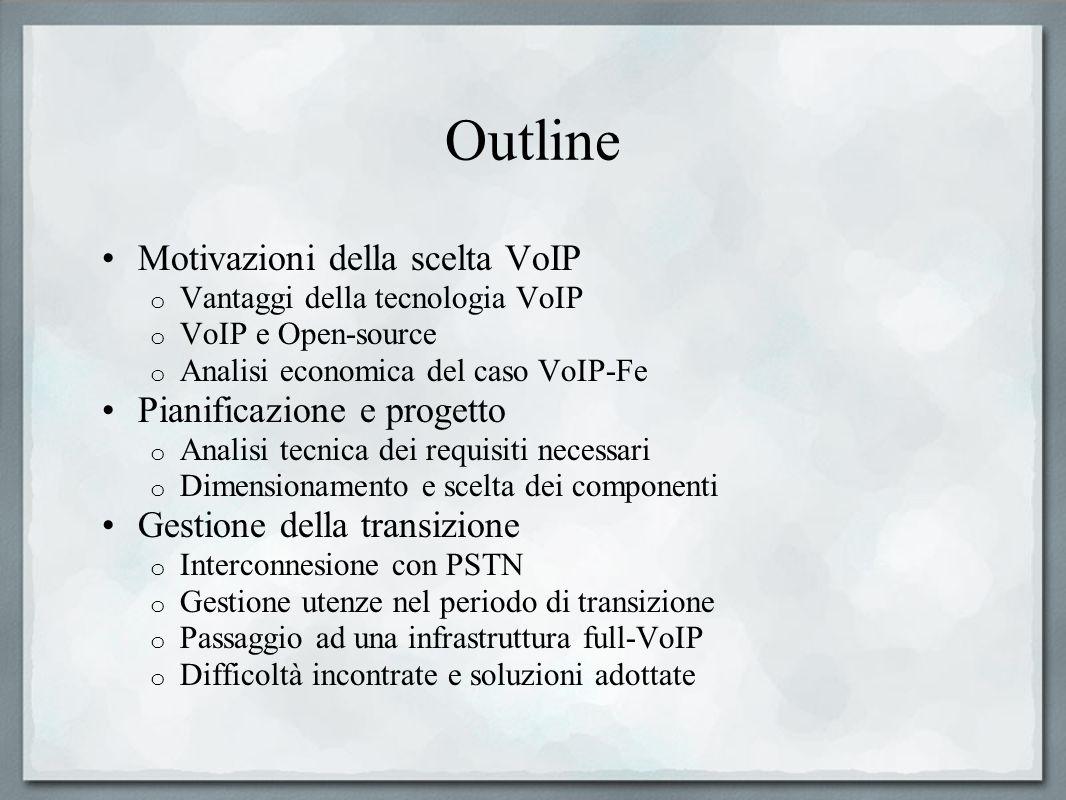 Outline Motivazioni della scelta VoIP Pianificazione e progetto