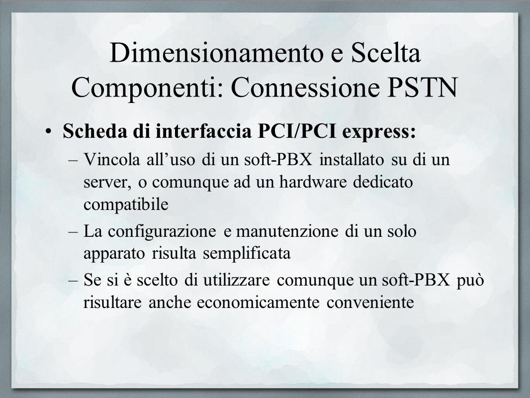 Dimensionamento e Scelta Componenti: Connessione PSTN