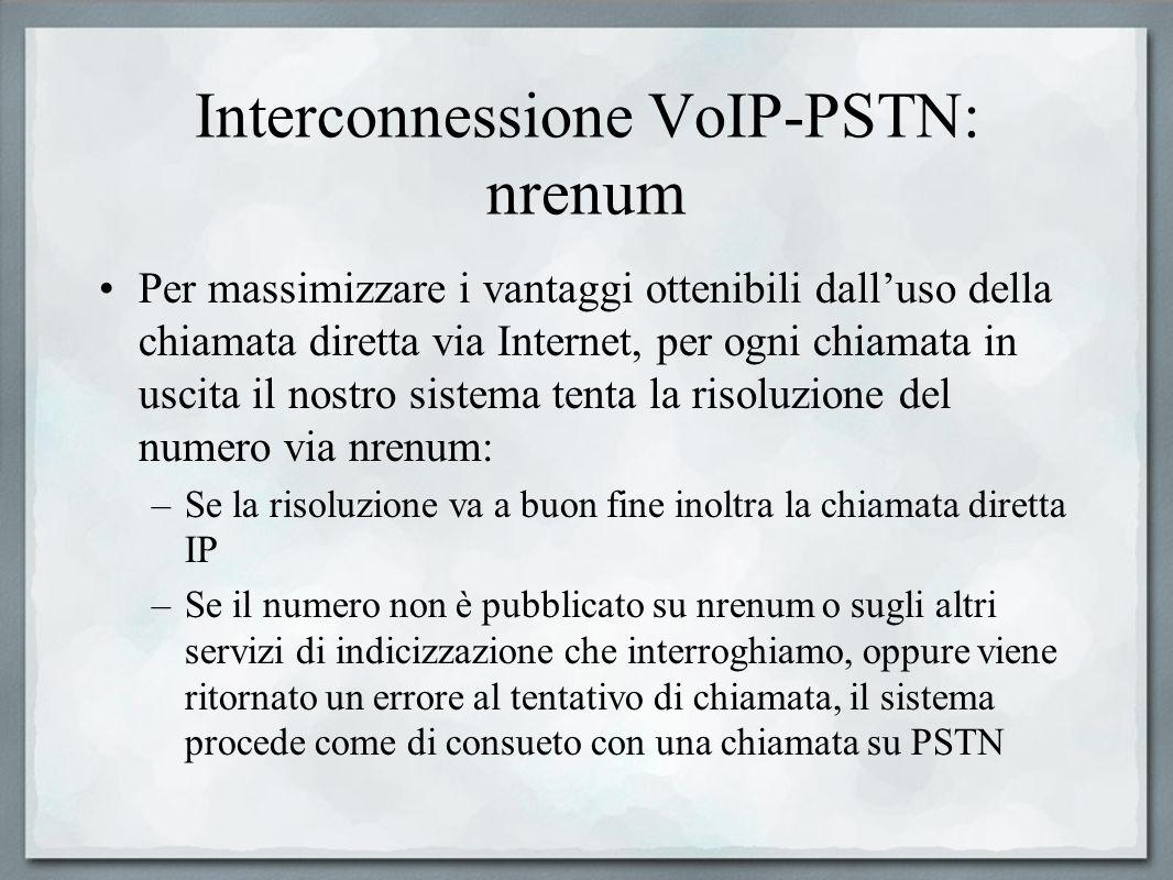 Interconnessione VoIP-PSTN: nrenum