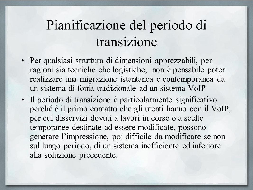Pianificazione del periodo di transizione