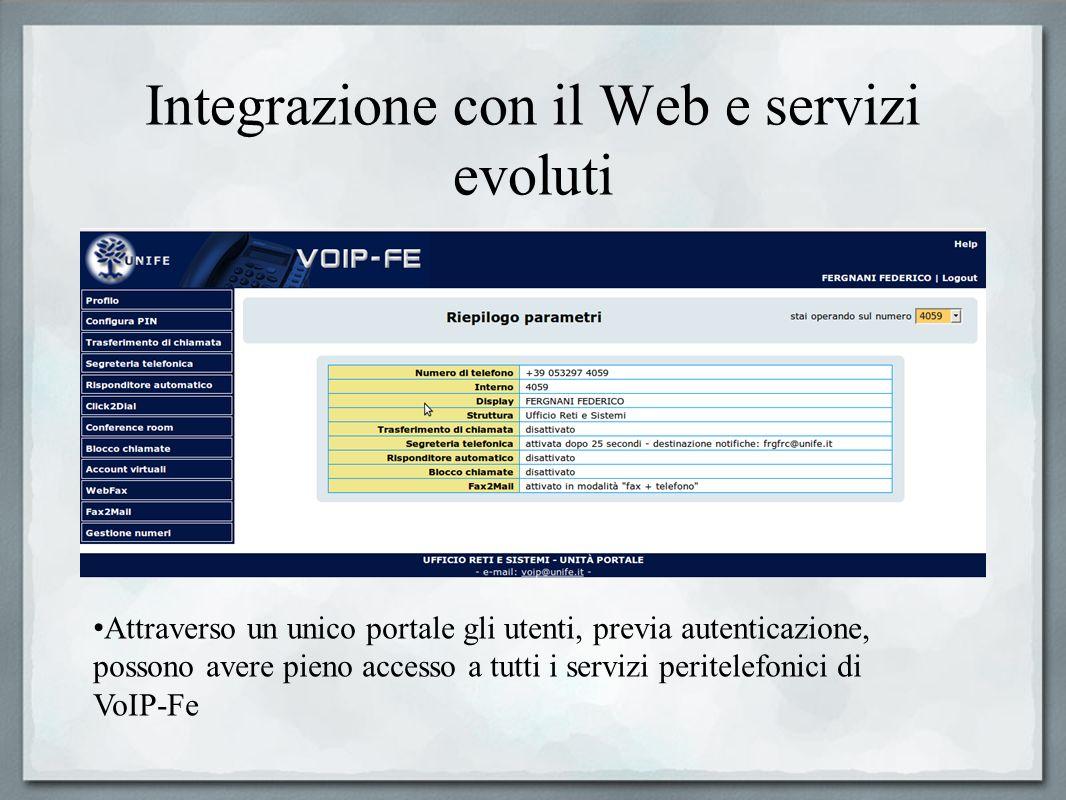 Integrazione con il Web e servizi evoluti