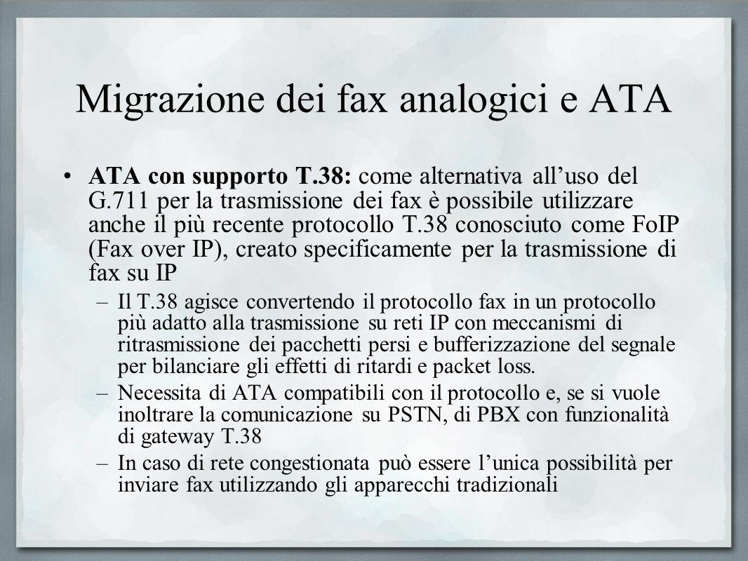 Migrazione dei fax analogici e ATA