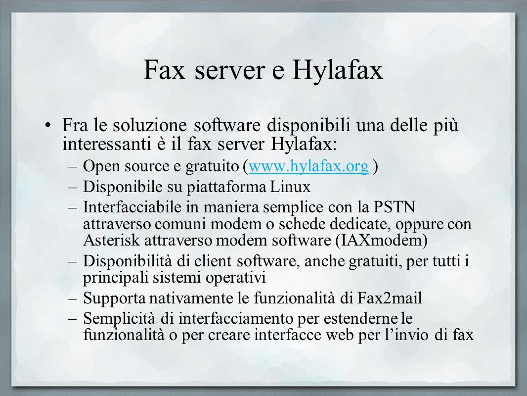 Fax server e Hylafax Fra le soluzione software disponibili una delle più interessanti è il fax server Hylafax: