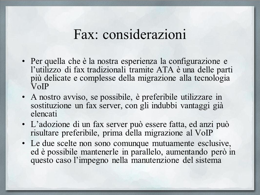 Fax: considerazioni