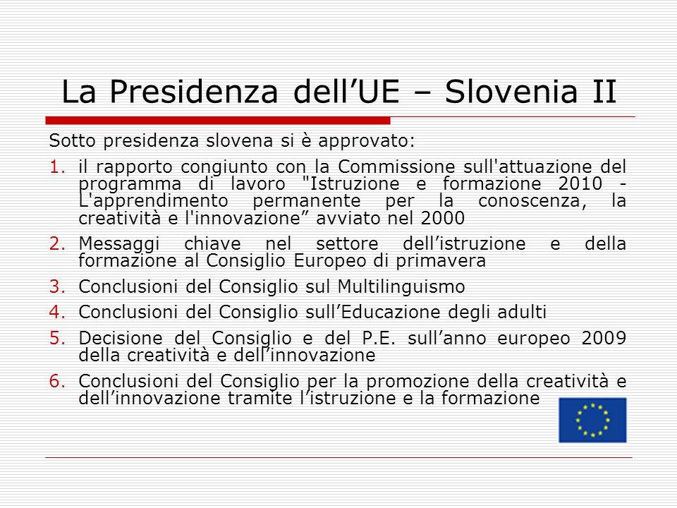 La Presidenza dell'UE – Slovenia II